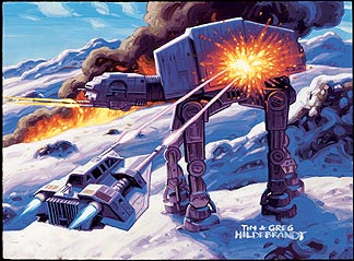 Dash Battles AT-ATs on Hoth, Brothers Hildebrandt
