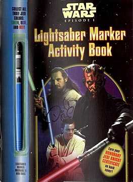 Star Wars Episode I  Lightsaber Activity Book, David Boller