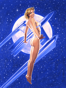 Fly Me to the Moon - 11x17 Giclee, Greg Hildebrandt