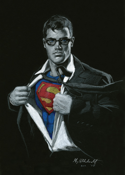 Superman - Black Board, Greg Hildebrandt