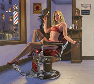 Shave and a Haircut - 17x15 Giclee, Greg Hildebrandt