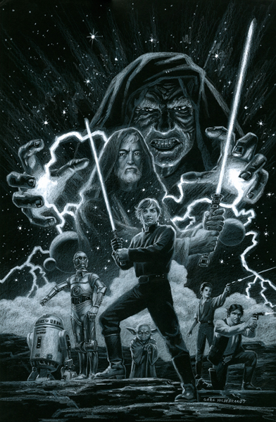 Star Wars - Marvel Cover #3 - Black Board, Greg Hildebrandt
