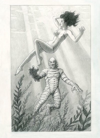 Creature From the Black Lagoon - Commission , Greg Hildebrandt