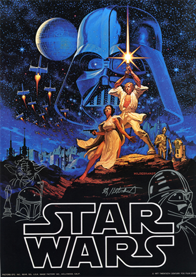 Star Wars Limited Edition Artist Proof Poster - Triple Remarque, Greg Hildebrandt