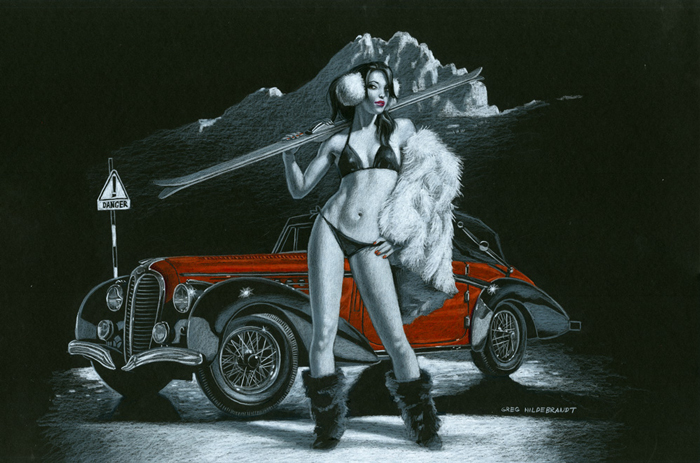 Dangerous Slopes BB 8x10 Print, Greg Hildebrandt