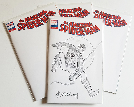 Amazing Spider-Man Comic Sketch Cover: NYCC Special, Greg Hildebrandt