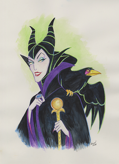 The Beauty of Evil: Maleficent and Diaval, Holly Golightly